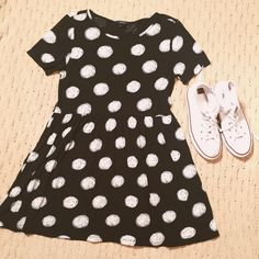 forever 21 t shirt dress super comfy and casual polka dot t-shirt dress. it's super cute and I'm perfect condition! size small. Forever 21 Dresses Mini
