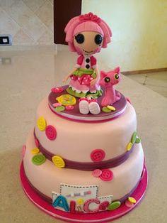 Tarta de cumpleaños de Lalaloopsy para una niña