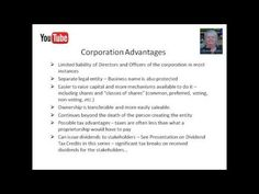 Video 6 - Proprietorship or Incorporation?