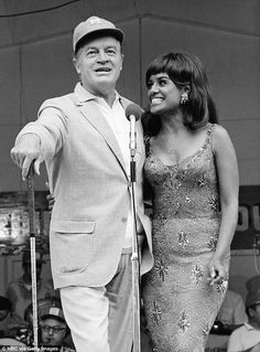 Admirers: Bob Hope performs for the troops with singer Barbara McNair in 1968