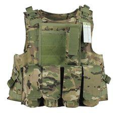 Military Vest Molle Tactical Vest Army vests MULTICAM  Color PRO MOLLE VEST
