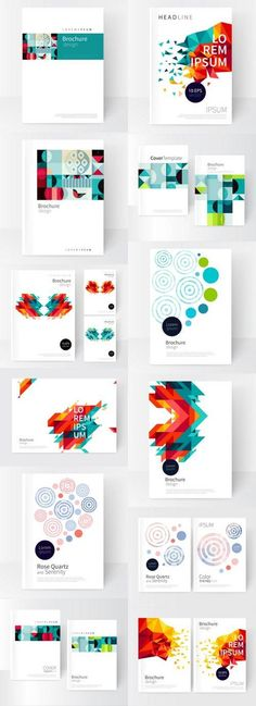 Vector Book Cover Design Creative Concept Catalog Report Brochure