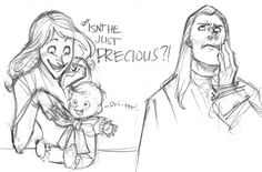 Narcissa, Lucius and baby Draco Harry Potter Anime, Arte Do Harry Potter, Harry Potter Comics, Harry Potter Universal, Harry Potter World, Harry Potter Memes, Drarry, Dramione, Draco Malfoy