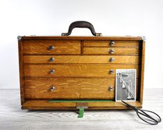 Antique Tool Chest Machinest Tool Chest Wood by HavenVintage beautiful storage idea