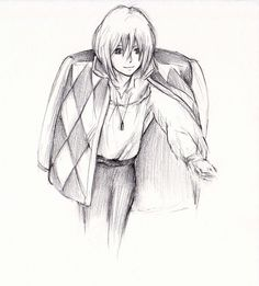 Howl sketch by ~yuraland on deviantART