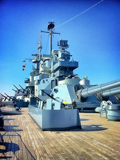USS North Carolina (BB-55) battleship memorial @ Wilmington, NC. #8A (Color)
