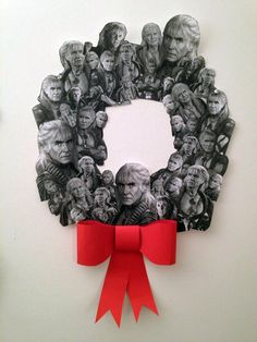 Annie Shapiro created The Wreath of Khan a Star Trek Christmas wreath made from the many faces of Khan Noonien Singh (Ricardo Montalbán). The wreath pays homage to the villain in the 1982 sci-fi action film Star Trek II: The Wrath of Khan. Christmas Wreaths, Christmas Crafts, Christmas Decorations, Holiday Decor, Holiday Ideas, Star Trek Christmas, Merry Christmas, Christmas 2014, Christmas Ideas