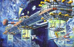 Space Colony by Shigeru Komatsuzaki