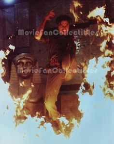 The Mummy Returns Color Photo leaping over fire Brendan Fraser