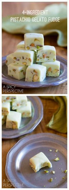Amazing 4-Ingredient Pistachio Gelato Fudge - Tastes like Italy, but GREEN for St. Patrick's Day!