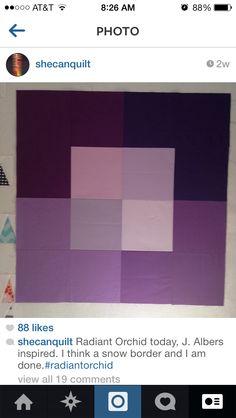 Make Josef Albers proud. Color field quilt block.