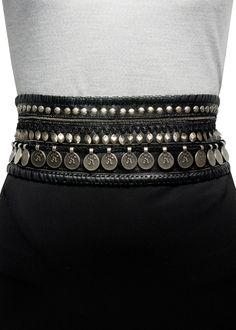 Hand-Embellished Coin Leather Belt  follow me @ http://pinterest.com/mindgarden/