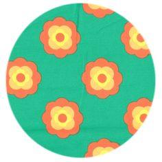 Økologisk jersey stof med blomster
