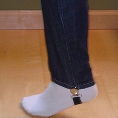 Jean Stirrups that Keep Your Pants from Bunching Up in Boots | 24 Genius Clothing Items Every Girl. Needs Great stuff.