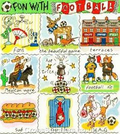 Fun With Football Cross Stitch Kit from Bothy Threads