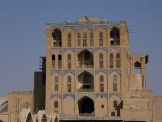 Ali Qapu, Isfahan, 1660, Iran Back elevation
