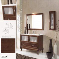 conjunto mueble de bao estefania compuesto de cajn y dos puertas con patas madera