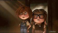 En busca del globo de Carl - Ellie: ¡Ahí está! Bueno... andando.  ¡Anda, Anda!