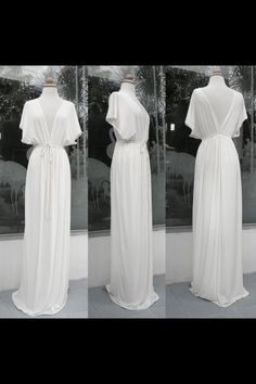 Stunning perfect kimono style wedding gown