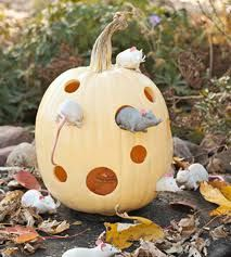 Mouse Pumpkin - pumpkin carved like swiss cheese