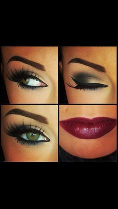 I like the smokey eye. Not too dramatic. Pretty lip color too.