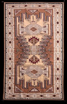 Cecelia Nez - Large Teec Nos Pos Navajo Rug. This and more important textiles for sale on CuratorsEye.com
