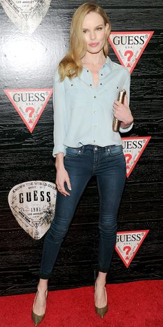 Kate Bosworth Is Effortlessly Chic In Guess - WhoWhatWear.com