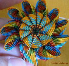 Crafts by Carla Pedreira: Flor Dupla de Sianinha