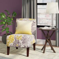 Zipcode Design Eugenia Floral Side Chair