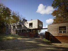 gorgeous modern cabin, michigan, cedar, corten, Fire Lane - Wheeler Kearns Architects