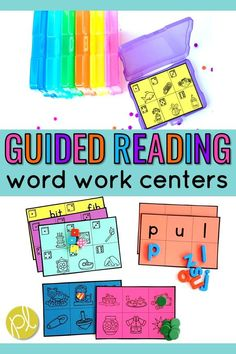 These word work activities can be used in small groups AND centers! I use Daily 5 in Guided Reading and these phonemic awareness and phonics centers support readers at Levels AA-E . From Positively Learning #wordworkcenters #daily5