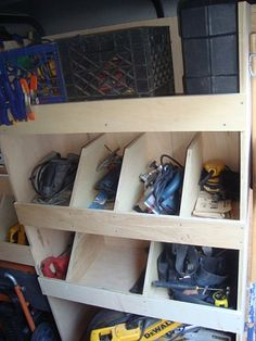 Power Tool Cubbies...have to download an app for this. Good idea will try to find better info on it...