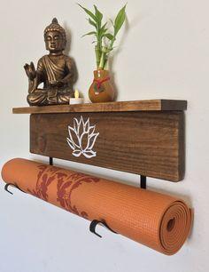 Yogamatrack.com Hang it up after #yoga class. Handmade, solid wood and wall mountable.