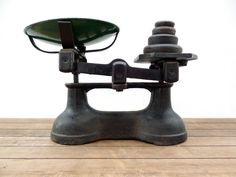 Kitchen Scale, Vintage Scale, Scales With Pan And Weights, Iron Scales, Iron Weights, Imperial Weights, Balance Scale, Antique Scales by MonsieurRenardsAttic on Etsy https://www.etsy.com/listing/272232324/kitchen-scale-vintage-scale-scales-with