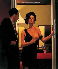 Jack Vettriano The Opening Gambit oil painting for sale, painting - $3,000.00 Authorized official website