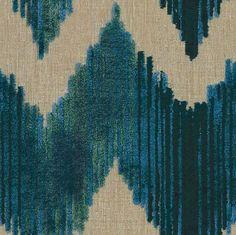 Watersedge In Aqua Geometric, Prints, Linen, Synthetic, Fabric by Lee Jofa Drapery Fabric, Fabric Decor, Fabric Design, Curtains, Chair Fabric, Aqua Fabric, Green Fabric, Chevron Fabric, Lee Jofa