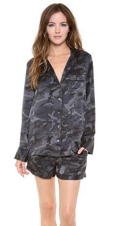 Equipment Lillian Camo Pajama Set | SHOPBOP