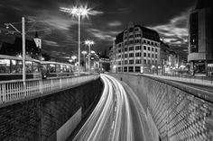 Wrocław at night Cityscapes, Railroad Tracks, Poland, Night, Ignition Coil, Urban Landscape