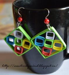 Colorful Quill Earring