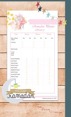 Free Ramadan 2016 Planner Printable Get ready to the most spiritual month of the year. Get those free printables through my blog and keep track of not only regular to-do list, but also this month special prayers and Qoraan reading tracker, as well as your meals and other fun stuff.