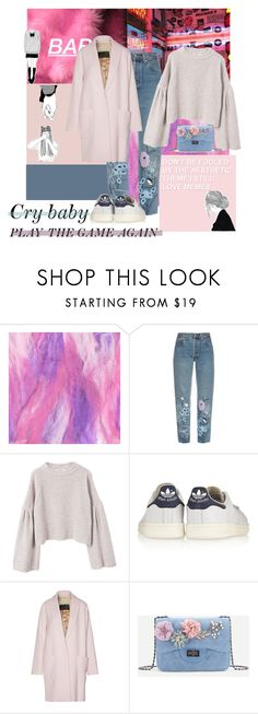 """Pink is my fav color"" by niceuh-papeurika ❤ liked on Polyvore featuring Bliss and Mischief, MANGO, adidas Originals and By Malene Birger"