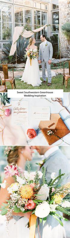 Sweet Southwestern Greenhouse Wedding Inspiration