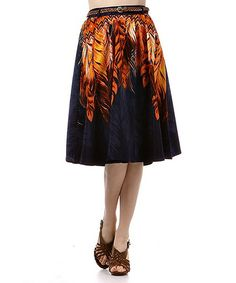 Fancy Feathers Belted Skirt