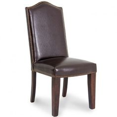 Chesnut Leather Dining Chair   Gallery Furniture - Houston, TX
