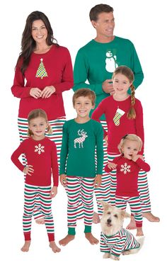 e442cc1895e2 Holiday Stripe Matching Family Pajamas. Matching Family Christmas  PajamasKids Christmas PjsChristmas ...