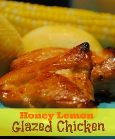 Honey Lemon Glazed Chicken This honey lemon chicken recipe is sweet and savory with a nice little glaze that's to die for!
