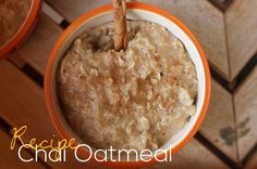 via Anytime Fitness...Use this chai oatmeal recipe as a fun fall twist on a favorite healthy breakfast.