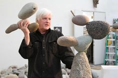 rock sculpture - You're not used to seeing these natural elements behave this way — appearing like they're floating, denying their identity. ^The art of sculptor Woods Davy is both inspired by nature and composed of natural elements. The artist, who Stone Crafts, Rock Crafts, Rock Sculpture, Sculptures, Deco Zen, Crystal Garden, Decoration Originale, Pebble Art, Stone Art