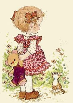 Immagini Sara Kay e Holly Hobbie Sarah Key, Holly Hobbie, Sarah Kay Imagenes, Baby Kostüm, Quelques Photos, Australian Artists, Digi Stamps, Cute Illustration, Vintage Cards