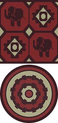 Ideas For Crochet Bag Pattern Chart Ganchillo Tapestry Crochet Patterns, Bead Loom Patterns, Crochet Stitches Patterns, Crochet Chart, Bead Crochet, Knitting Patterns, Mochila Crochet, Tapestry Bag, Crochet Purses